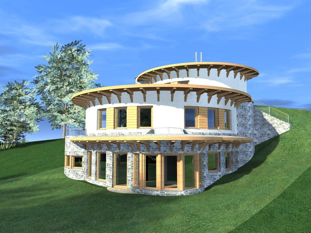 Zöldtetős ház a váci hegyoldalban