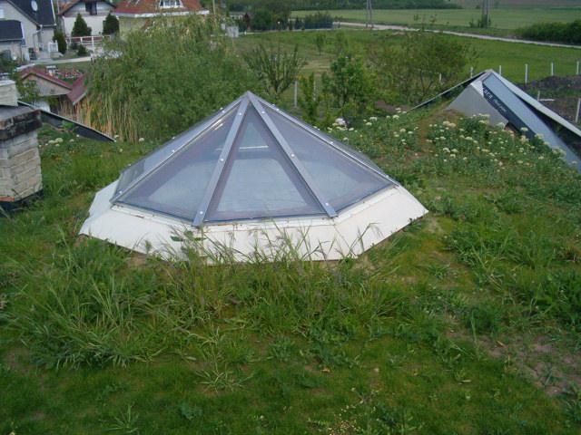 Zöldtető - földház teteje