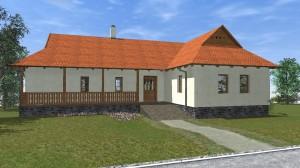Parasztház felújítás/átalakítás terve - Hollókő - utcai oldal