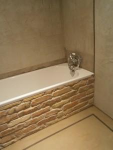 Fürdőszoba dekorbeton burkolattal
